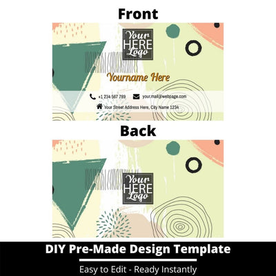 Business Card Design Template 239
