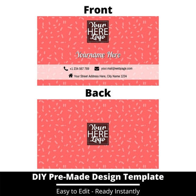 Business Card Design Template 245
