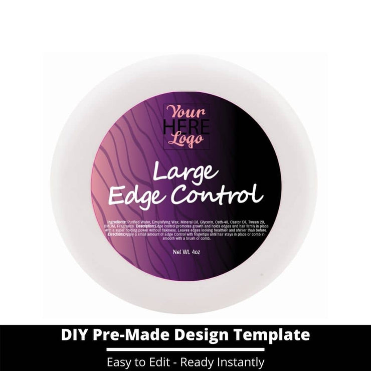 Large Edge Control Top Label Template 1