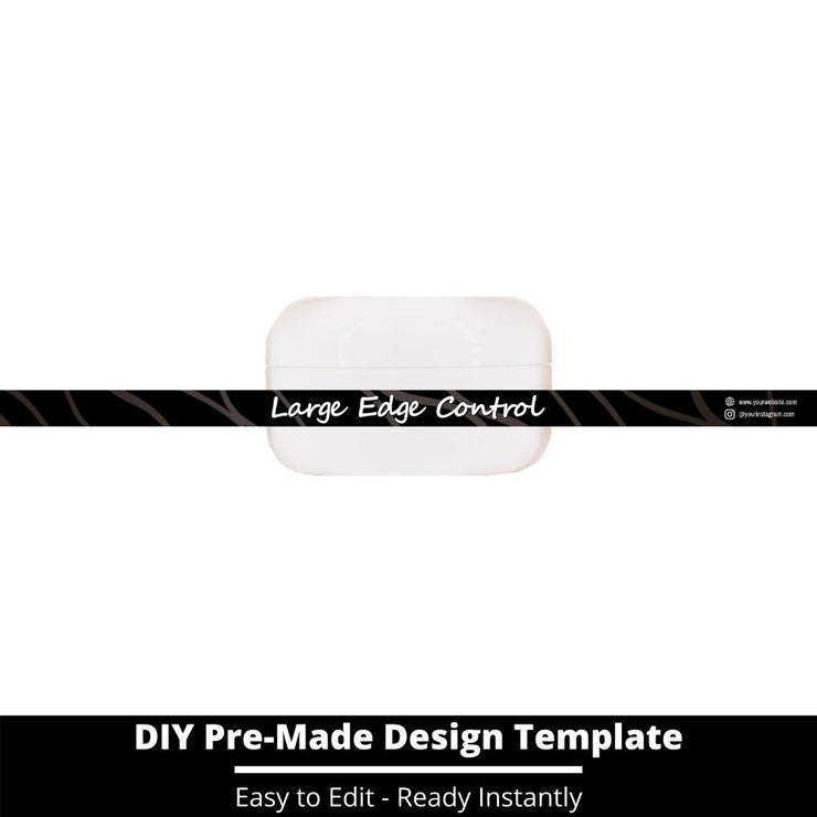 Large Edge Control Side Label Template 6
