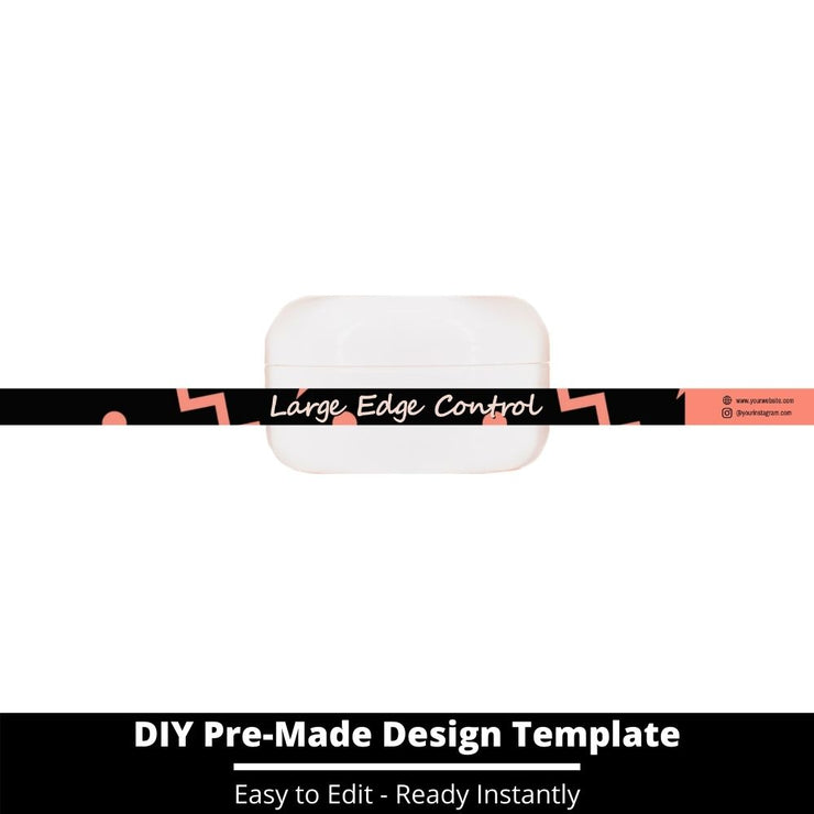 Large Edge Control Side Label Template 13
