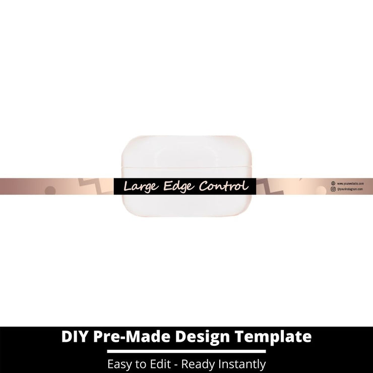 Large Edge Control Side Label Template 14