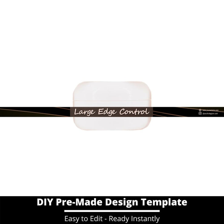 Large Edge Control Side Label Template 18