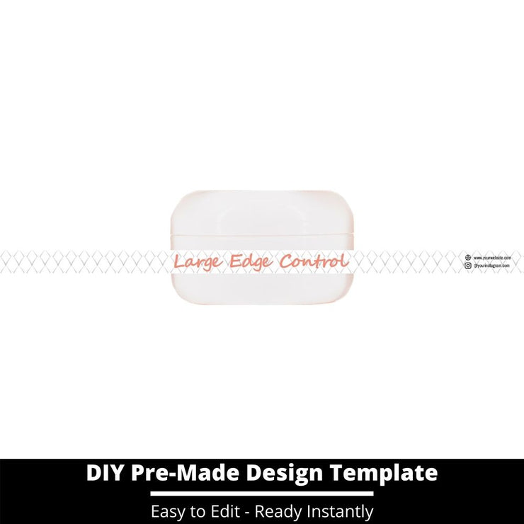 Large Edge Control Side Label Template 31