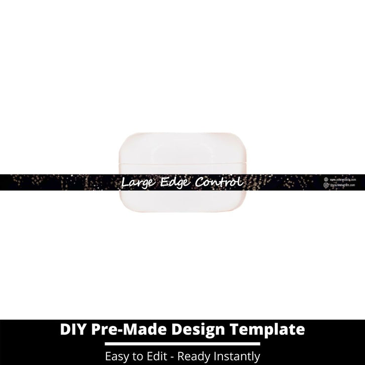 Large Edge Control Side Label Template 34