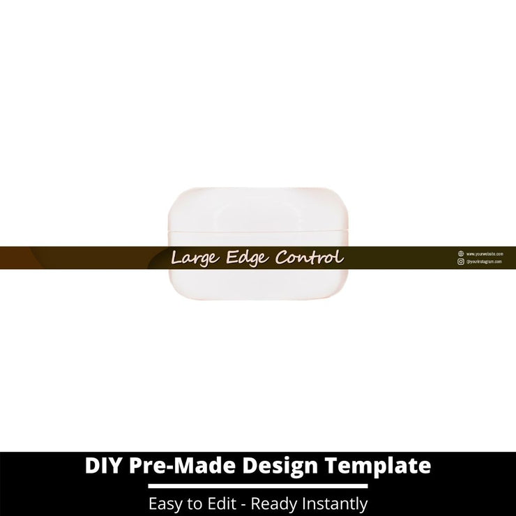 Large Edge Control Side Label Template 37