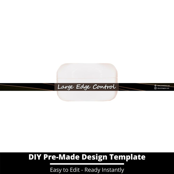 Large Edge Control Side Label Template 38