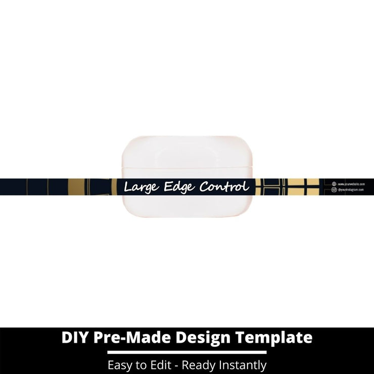 Large Edge Control Side Label Template 52