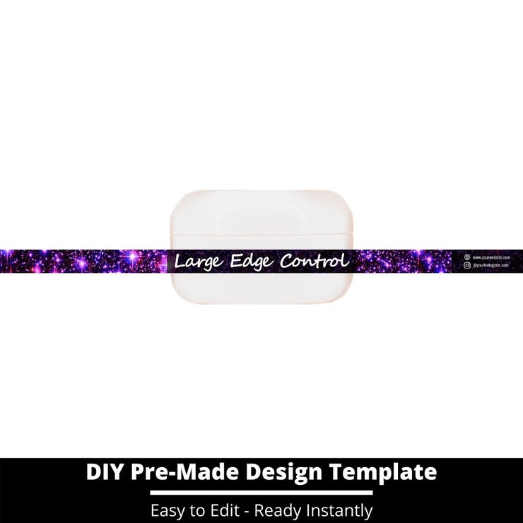 Large Edge Control Side Label Template 56