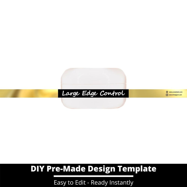 Large Edge Control Side Label Template 62