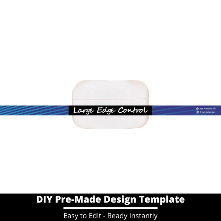 Large Edge Control Side Label Template 63