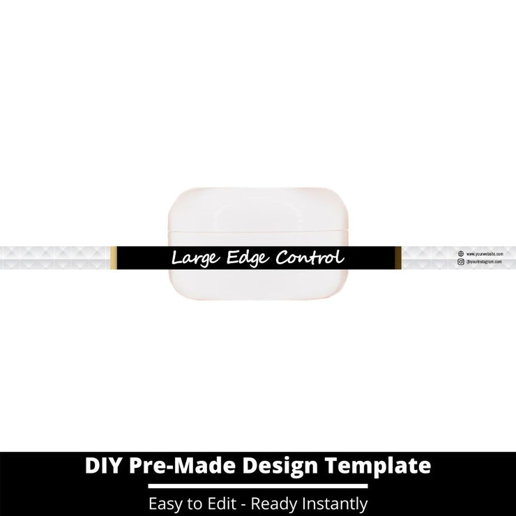 Large Edge Control Side Label Template 68