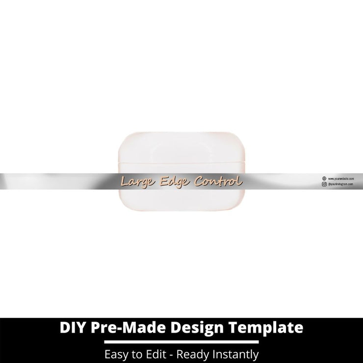 Large Edge Control Side Label Template 73