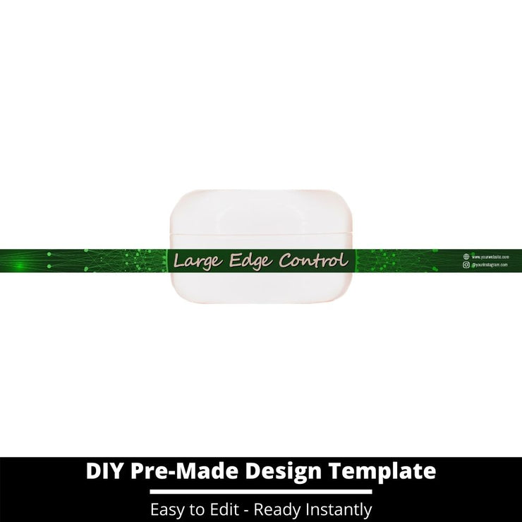 Large Edge Control Side Label Template 77