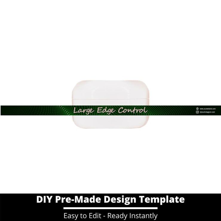 Large Edge Control Side Label Template 81