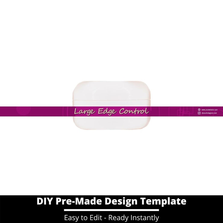 Large Edge Control Side Label Template 86