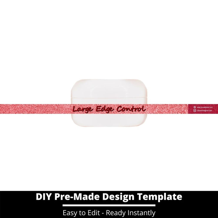 Large Edge Control Side Label Template 93