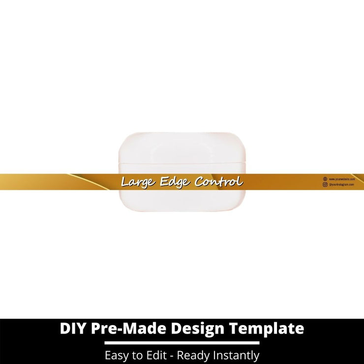Large Edge Control Side Label Template 105