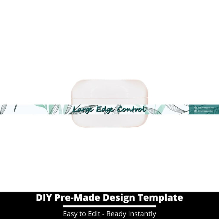 Large Edge Control Side Label Template 107