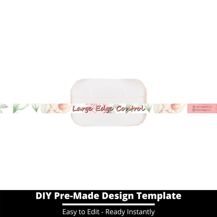 Large Edge Control Side Label Template 108