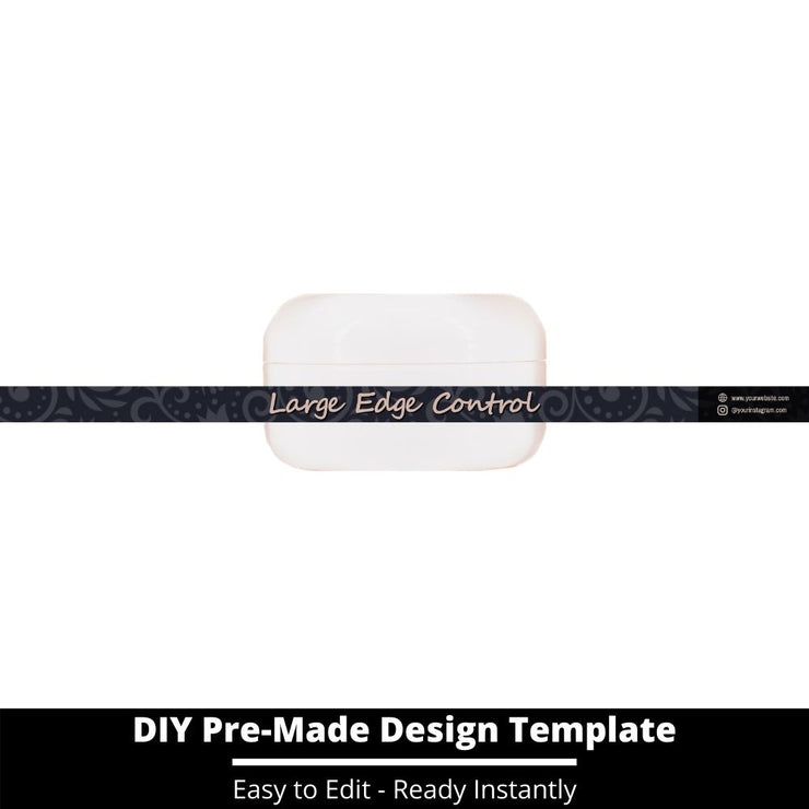 Large Edge Control Side Label Template 111
