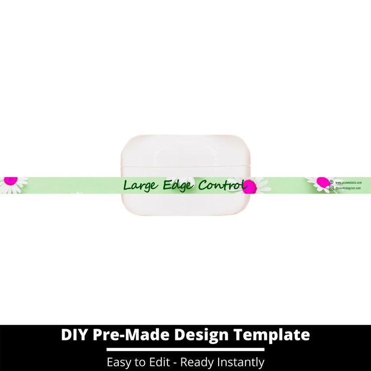 Large Edge Control Side Label Template 124
