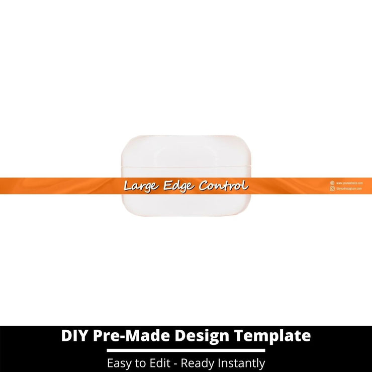 Large Edge Control Side Label Template 136