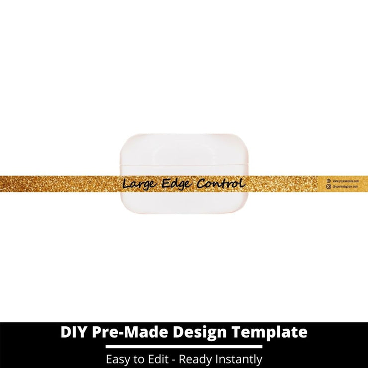 Large Edge Control Side Label Template 140