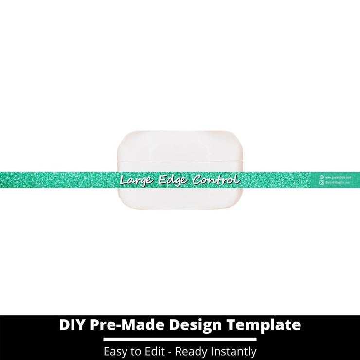 Large Edge Control Side Label Template 142