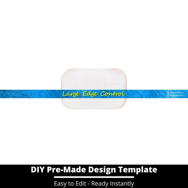 Large Edge Control Side Label Template 147