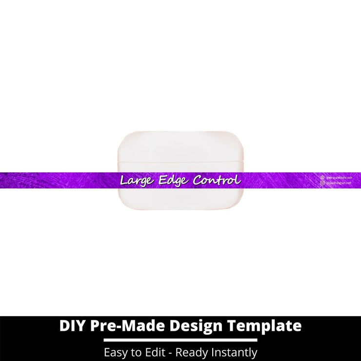 Large Edge Control Side Label Template 148