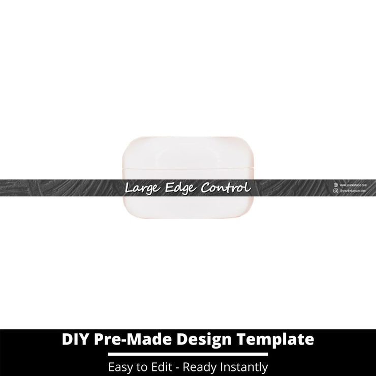 Large Edge Control Side Label Template 152