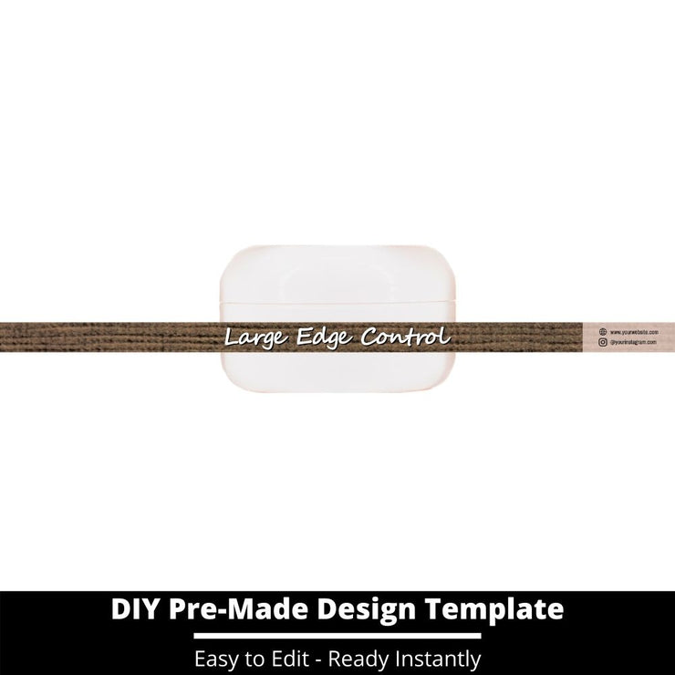 Large Edge Control Side Label Template 155