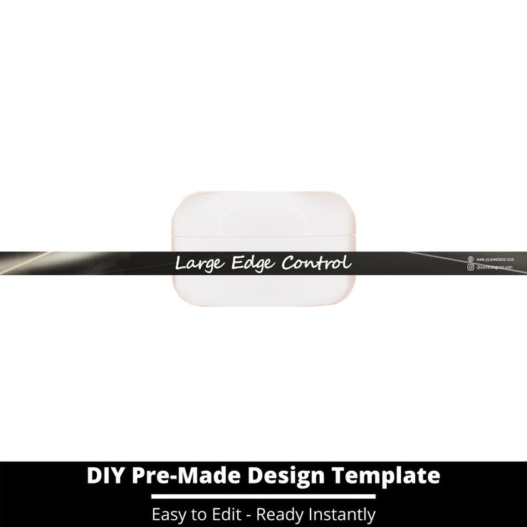 Large Edge Control Side Label Template 171