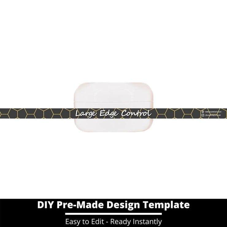 Large Edge Control Side Label Template 178