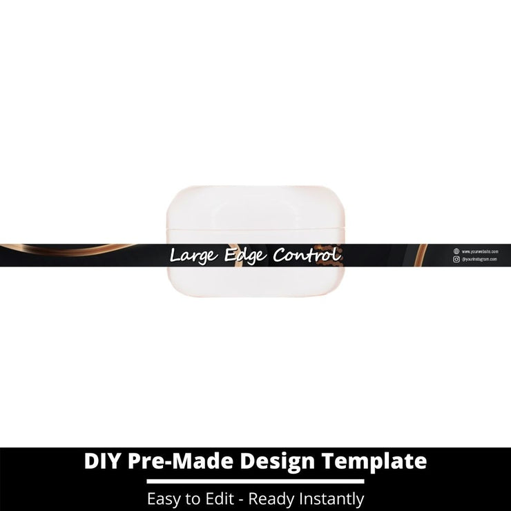 Large Edge Control Side Label Template 187