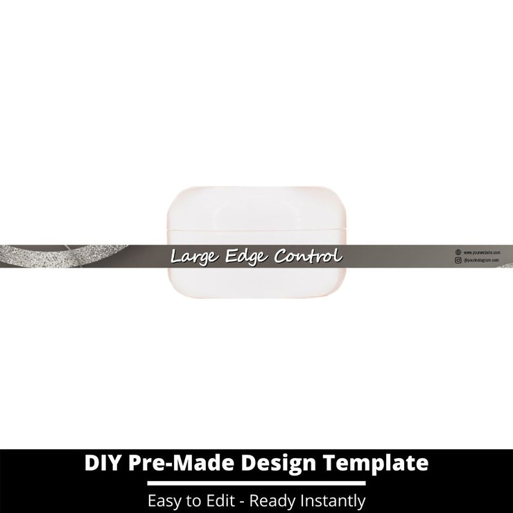 Large Edge Control Side Label Template 195