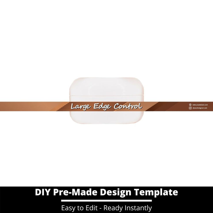 Large Edge Control Side Label Template 196