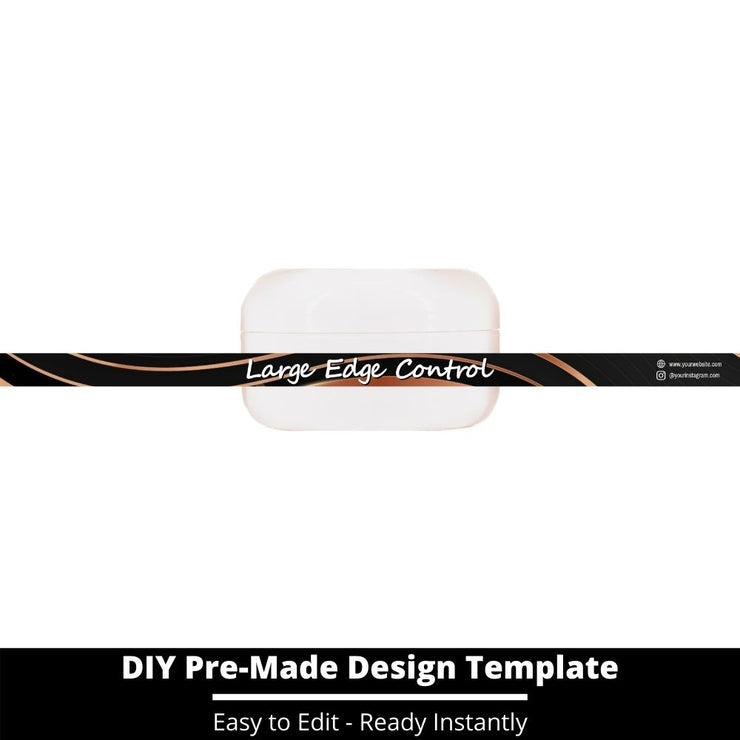 Large Edge Control Side Label Template 199