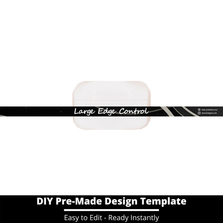 Large Edge Control Side Label Template 201