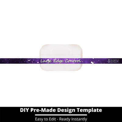 Large Edge Control Side Label Template 205