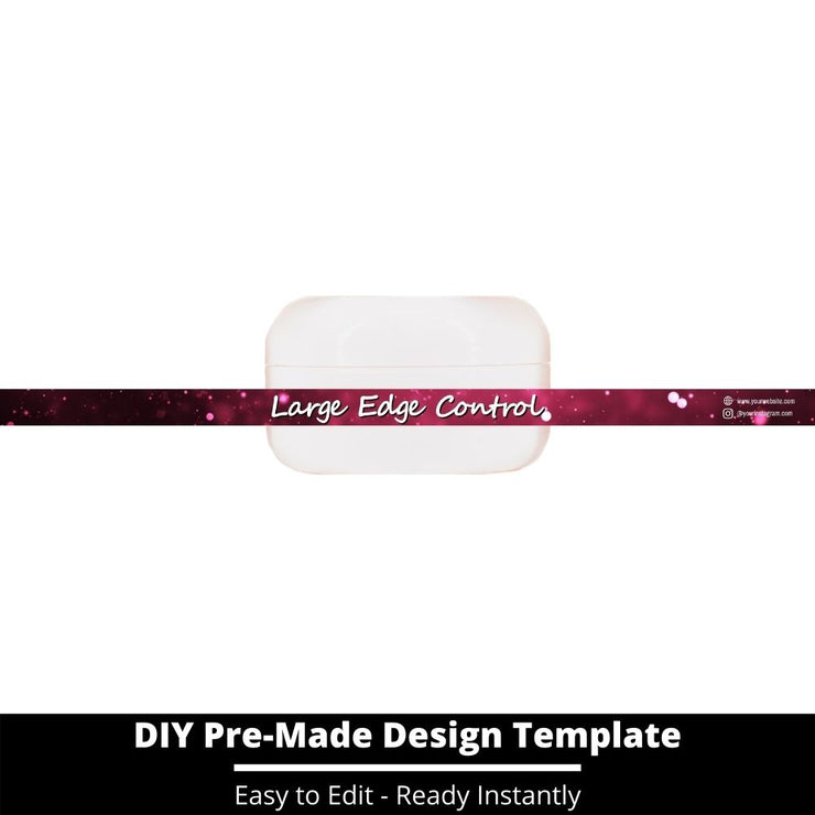 Large Edge Control Side Label Template 206