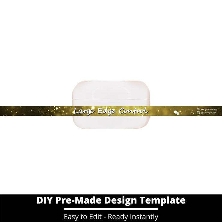 Large Edge Control Side Label Template 207