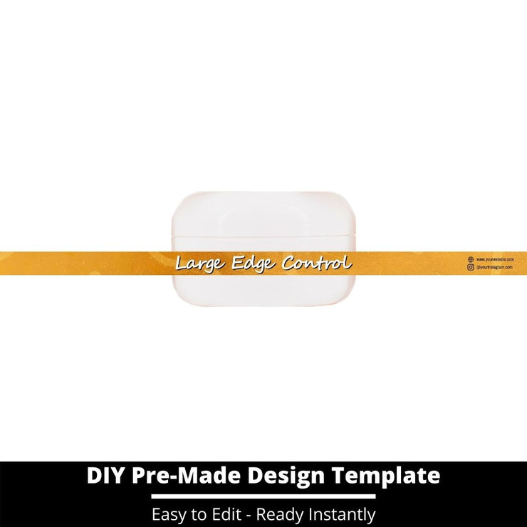Large Edge Control Side Label Template 211