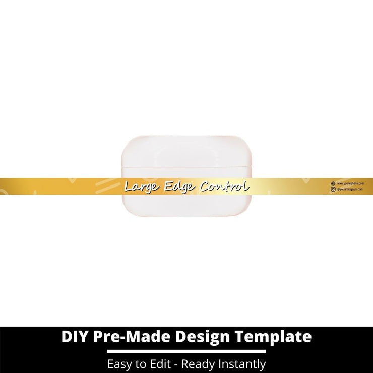 Large Edge Control Side Label Template 212