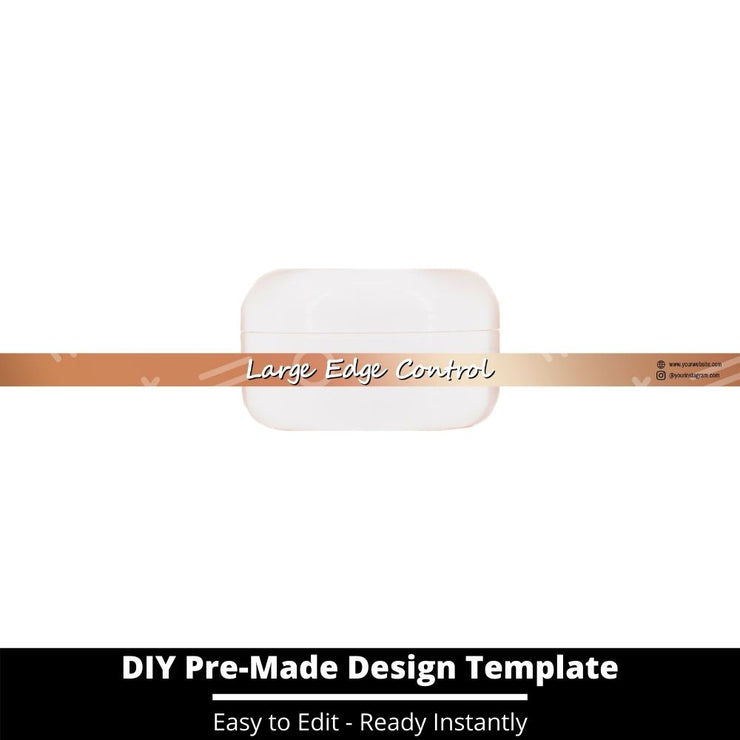 Large Edge Control Side Label Template 217