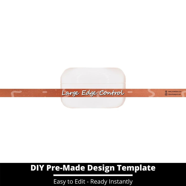 Large Edge Control Side Label Template 218