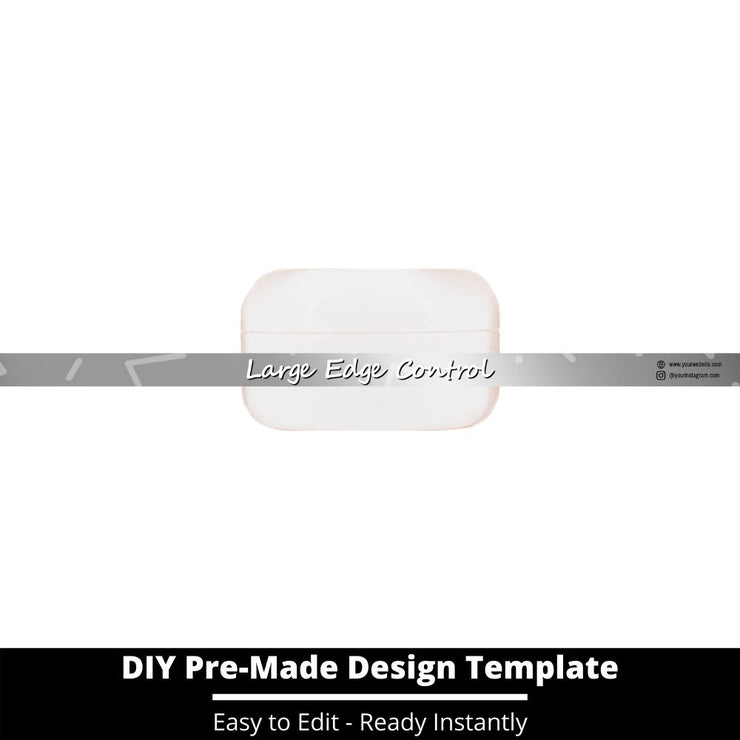 Large Edge Control Side Label Template 224