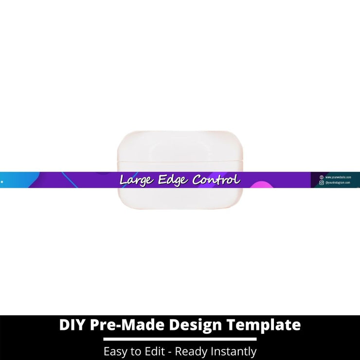 Large Edge Control Side Label Template 235