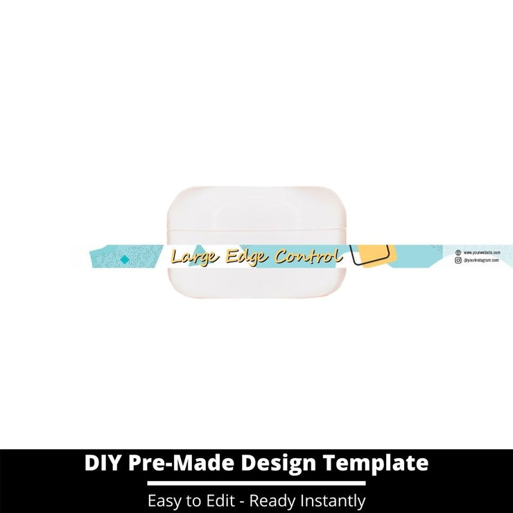 Large Edge Control Side Label Template 238